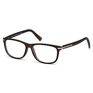 Ermenegildo Zegna Men's EZ5005 Eyeglasses, Matte Dark Brown