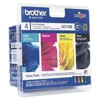INK CART, LC1100, 4 COLOUR MULTIPACK LC1100VALBP By BROTHER