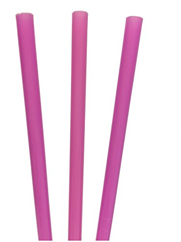9.5 Inch Paper Wrapped Drinking Straws (250, Purple)