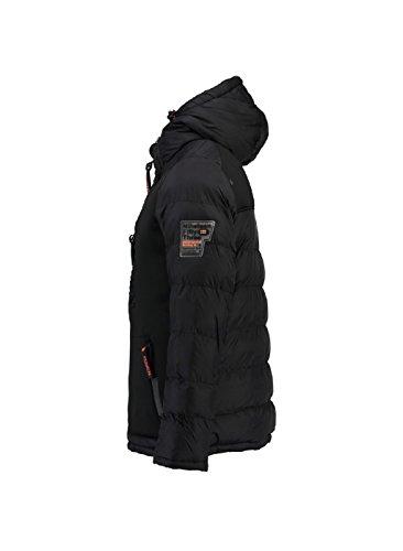 Brevster D'hiver Pour Norway Homme Capuche Noir Veste Geographical qHg4an