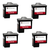 Amsahr XC70B Remanufactured Replacement Sharp Ink Cartridges for Select Printers/Faxes - 5 Pack, Black