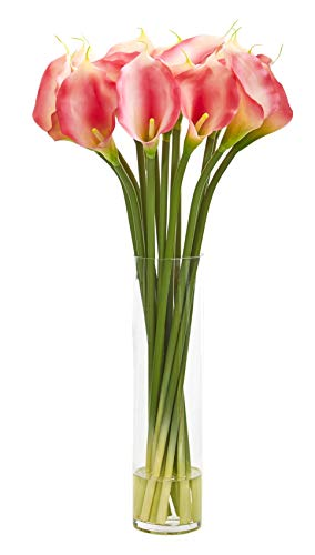 - Artificial Flowers -28 Inch Calla Lilly Pink Arrangement