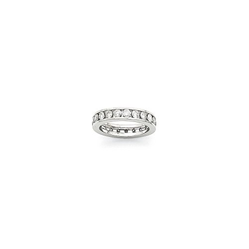 14k White Gold 4mm Wide Size 8.5 Eternity Band Mounting, Best Quality Free Gift Box - Base Only, No Stones - Eternity Band Mounting