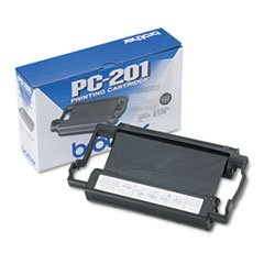 ((6 Pack Value Bundle) BRTPC201 PC201 Thermal Ribbon Cartridge, Black)