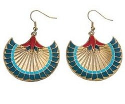 Papyrus Earrings - Collectible Jewelry Accessory Dangle Studs Jewel -