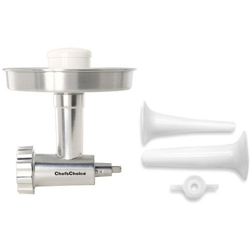 Chef's Choice Meat Grinder Attachment for KitchenAid Stand Mixer with Bonus Sausage Stuffer