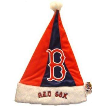 Boston Red Sox Plush Santa Hat -