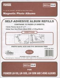 Bulk Buy: Pioneer Magnetic Page Photo Album Refill Pages 8 1/4''X10 1/2'' 5/Pkg (10 Pages) (12-Pack)
