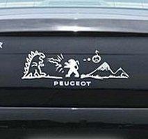 プジョー車のバッジブランドボディロゴエンブレムステッカースタイリングステッカーの装飾のビニールカバー