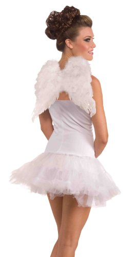[Forum Novelties Women's Adult Club Angel Feather Wings Costume Accessory, White, One Size] (White Fairy Costumes)