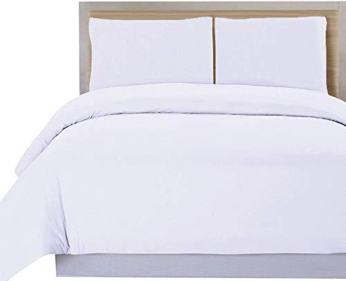 DHestia Hosteleria - Funda Nordica para Edredon Blanca Hotel 50% Algodon 50% Poliester (270x240 cm - Cama 180)
