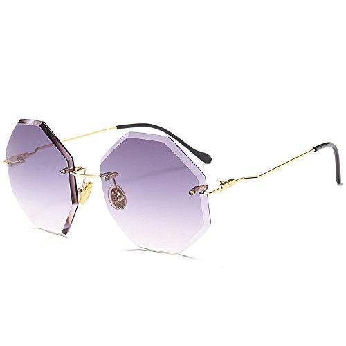 Nouvelles bords à Qinddoo de à sans C1 Lunettes soleil irréguliers irréguliers de soleil lunettes soleil cadre Lunettes lunettes de WCC84qxgtw