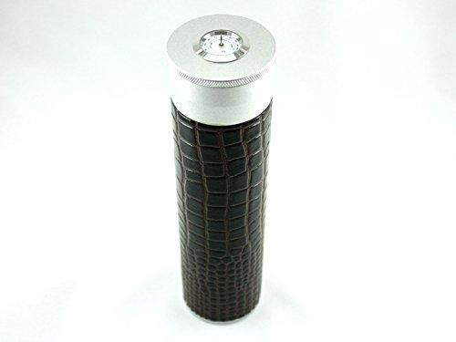 Skyway Alligator Cigar Tube Humidor with Hygrometer and Humidifier - Dark Brown