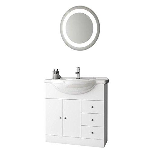 ACF LON11-637509939588 London Collection Vanity Set, Glossy White