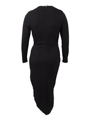 Ville Chics Des Femmes Ainsi Que Des Manches Longues Asymétriques Noir Robe Casual