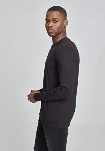Urban Henley Homme Classics L s Schwarz Basic shirt Sweat Tee rwrOqUxER