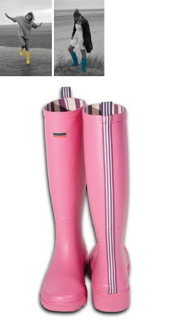Striped Premium Wellington Boots Pink