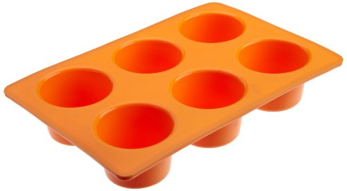 Casabella Silicone 6 Cup Muffin Orange