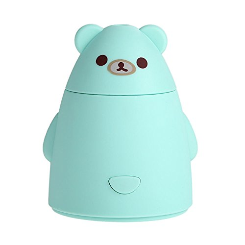 Portable Mini USB Humidifier Air Purifier Aroma Diffuser Atomizer Office Home (Light green)