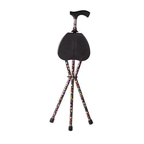 Switch Sticks Walking Stick With Seat, 2-in-1 Folding Walking Stick Seat, Bubbles by Switch Sticks (Image #3)