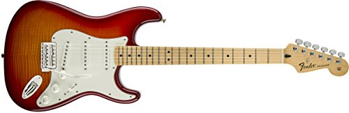 Fender Standard Stratocaster Electric Guitar - Flamed Maple Top - Maple Fingerboard, Aged Cherry Burst by Fender