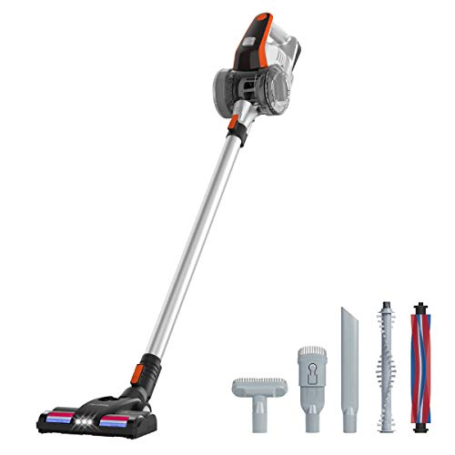 Paxcess Cordless Stick Vacuum Cleaners, 2 in 1 Rechargeable Handheld Vacuum with Powerful Suction, HEPA Filter, LED Brush Lightweight Vacuum Cleaner for Floor/Carpet/Pet Hair