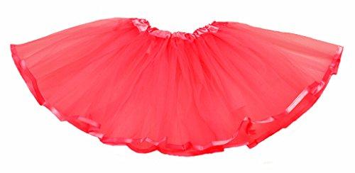 """Falda de tul """"Ella"""" con cinta para niñas - Tutú Enagua Falda de ballet - en varios colores Rojo"""