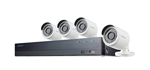 (Wisenet SDH-B74043BF 8-Channel 1080p Full HD DVR Security System with 1TB Hard Drive, and 4 Weather-Resistant Cameras)