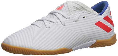 adidas Unisex Nemeziz Messi 19.3 Indoor Soccer Shoe, White/Solar Red/Football Blue, 11K M US Little Kid (Indoor Soccer Shoes Messi Kids)
