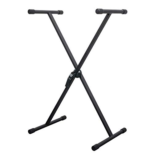 CASCHA Keyboard Stand, Piano Stand, Rack for Keyboards, Digital and Electric Pianos, height adjustable, X-Frame, Metal, Black (Best Digital Keyboards 2019)