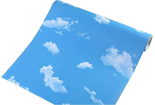 - Teemall Blue Sky White Clouds Decorative Contact Paper Vinyl Self Adhesive Shelf Drawer Liner Home Decor Wallpaper 24x79 Inch