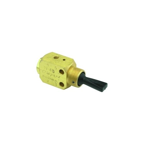 Clippard TV-4DM 3-Position 4-Way Valve, Plastic Toggle, 10-32, 4.5 SCFM at 50 PSIG, 7.5 SCFM at 100 PSIG by clippard