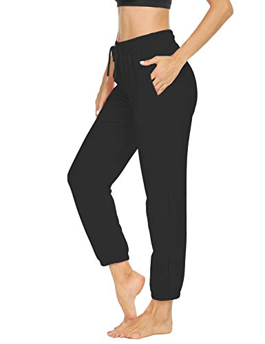 Sarin Mathews Womens Sweatpants Loose Workout Running Joggers Drawstring Comfy Lounge Pants with Pockets
