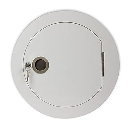 Häufig Wäscheabwurf Einwurftür, rund, zusammenklappbar, Weiß, für OU35