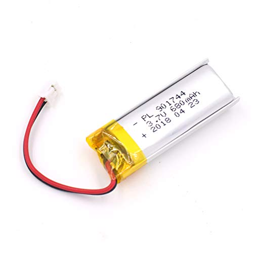 (3.7V 680mAh 901744 Lipo battery Rechargeable Lithium Polymer ion Battery Pack with JST Connector)