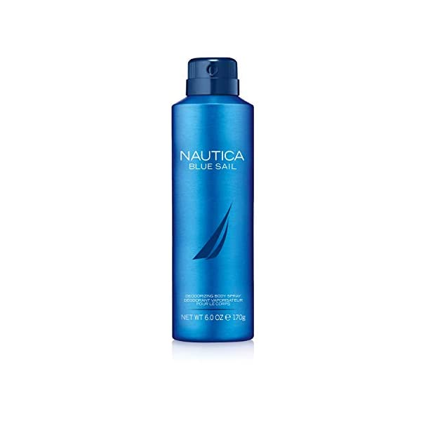 Nautica Blue Sail Men's Deodorizing Body Spray, 6 Fl Oz