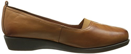 Hush Puppies Womens Pearl Carlisle Slip-on Mocassino In Pelle Color Cuoio