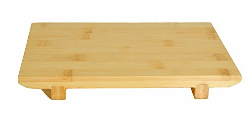 M.V. Trading 900258 Bamboo Nigiri Sushi Geta Plate Tray and Serving Board, 9-1/2
