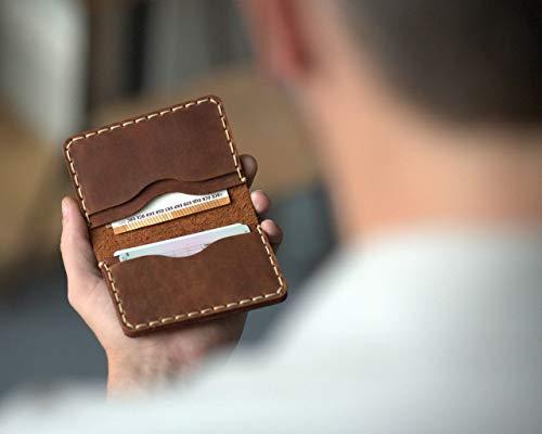 Brieftasche Ausweishülle Leder Kleiner Geldbeutel für Kreditkarten