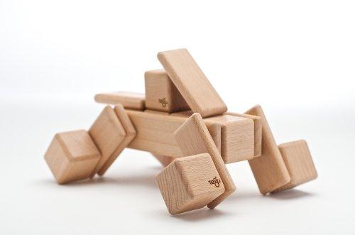 52 Piece Tegu Original Magnetic Wooden Block Set, Natural by Tegu (Image #6)