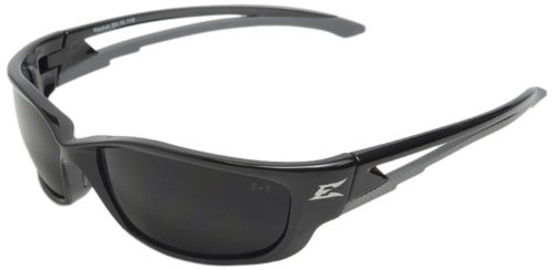 Edge Eyewear SK-XL116 Kazbek XL Safety Glasses, Black with Smoke Lens - Edge Safety Glasses