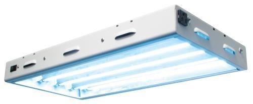 Sunlight Supply Sun Blaze T5 High Output 24 Fluorescent Fixture Grow Light — Four 2ft. 24 Watt Lamps, 120 Volt