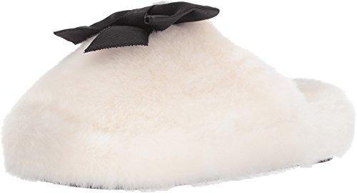 Kate Spade New York Women's Bali Cream Faux Fur Slipper 9 M