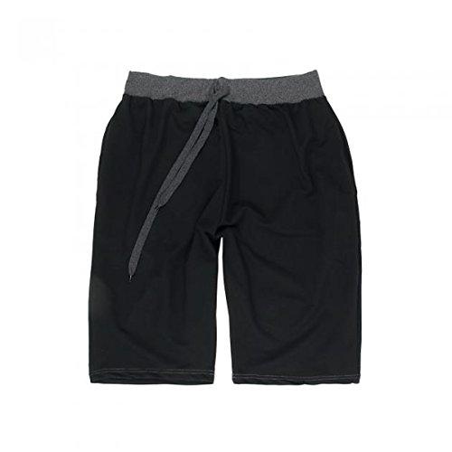 Klassische Herren Jogging Shorts in Übergröße mit elastischem Bund in schwarz von 3XL bis 8XL
