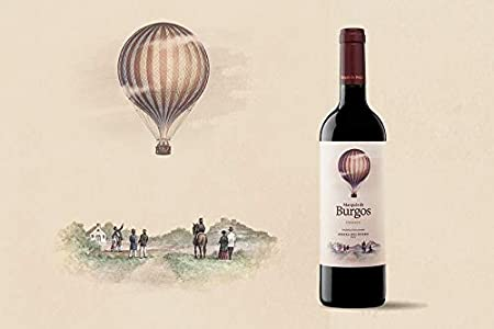 Vino Tinto Marqués de Burgos Crianza (D.O.Ribera del Duero) - 3 botellas de 750 ml - Total: 2250 ml