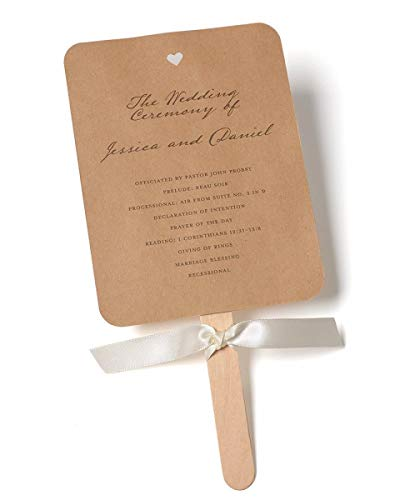 Rustic Kraft Fan Print at Home Wedding Program Kit -