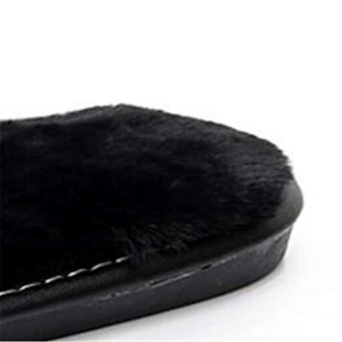 Taille occupent Qui 36 Chaudes Chaussures Maison et Chaussures Word 35 GSCshoe Les de Coton Pantoufles Maomao Automne Hiver Forme Mode Doux de Plate confinés Ms PSFB7q4