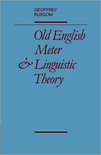 Book Old English Meter and Linguistic Theory by Russom, Geoffrey(February 11, 2010)