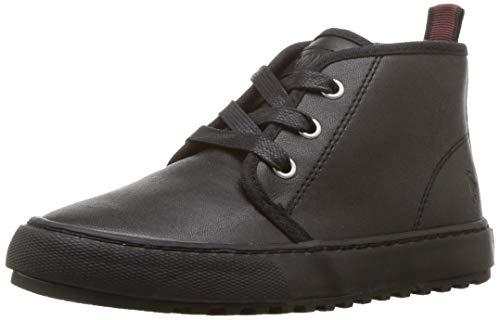 Polo Ralph Lauren Kids Boys' Chett EZ Sneaker, Triple Black Burnished, M135 M US Little - Burnished Kid Footwear