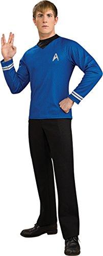 Morris Costumes Men's STAR TREK MOVIE Deluxe SHIRT, BLUE, (Star Trek Outfits)